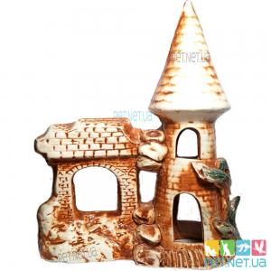Аквариумная керамика - Башня с гротом - 611
